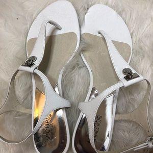 White Micheal Kors Sandals